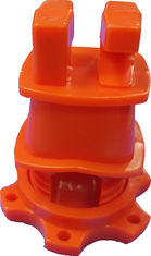 China Orange HDPE Screw Tight Round Post Insulator with UV inhibitors for Electric Fencing System supplier