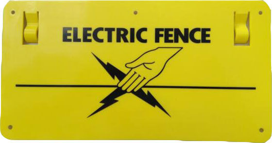 China Warning Sign-Customizable/ electric fencing warning signs supplier