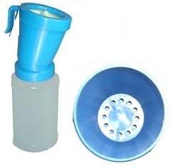 Plastic LDPE Blue color Teat Dip Cup Return Type for dairy cows