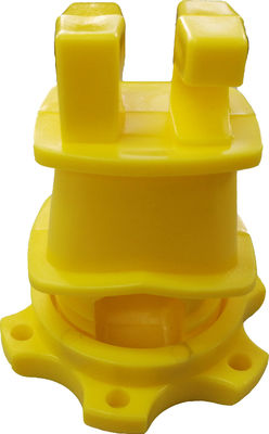 Yellow HDPE Screw Tight Round Post Insulator with UV inhibitors for Electric Fencing System